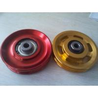 Quality Metal Pulleys/silver&golden color/ qualified supplier of kinds of pulleys for fitness equipment for sale