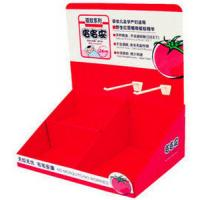 Buy 350g Grey Paper OEM Red Cardboard PDQ Display With Hooks Economical / Ecological at wholesale prices