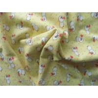 China Single Side Printed Flannel Fabric 60% Cotton 40% Polyester Antibacterial on sale