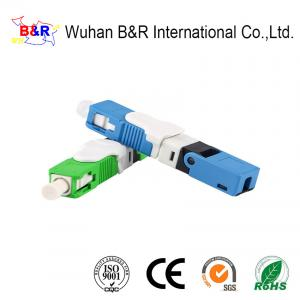 Quality CE PC 0.3dB Plastic Optical Fiber Connectors For FTTH Networks for sale