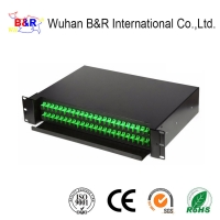 Quality 19Inch 48 Port Fiber Optic Patch Panel With SC Adapters for sale