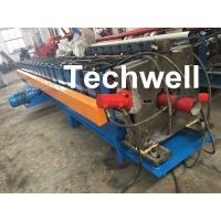 Quality 0-15m/Min Forming Speed Downpipe Machine, Rainspout Roll Forming Machine With Coil Thickness 0.4-0.6mm for sale