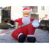 Quality Pvc Inflatable Christmas Decorations 3 Meter , Inflatable Santa Claus for sale