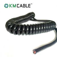 Quality Semi Truck Trailer Power Cord PVC Insulation Flame Retardant Spring Coiled for sale
