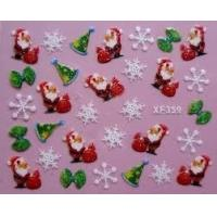 China OEM high quality PET non -- toxic sunproof christmas nail art stickers for decorating nail on sale