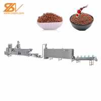 Quality Full Automatic Floating Fish Feed Pellet Production Line 100-160kg/h for sale