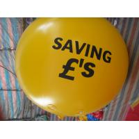 China 2m 0.18mm Pvc Yellow Brand Inflatable Helium Balloon For Advertising on sale