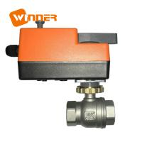 Quality Electric Motor Operated Stainless Steel Ball Valve Manual Override 110VAC for sale