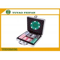 China 100pcs ABS Poker Chips / Gameland Poker Chips Set With Aluminum Metal Case wholesale