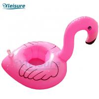 China Customized Spa Pool Swimming Spa Flamingo Drink Cup Holder Inflatable Glass Holder Float Drink Coaster on sale