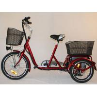Quality Front Basket Adult Electric Tricycles Rear Cargo , 3 Wheel Electric Bicycle for sale