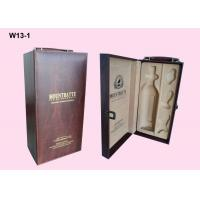 Quality OEM Wooden Single Wine Packaging Boxes With Hot Stamping Logo for sale