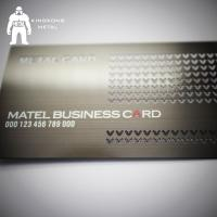 Buy Metal Card Factory Supply Custom Logo Gun Plated Stainless Steel Metal Business Card at wholesale prices