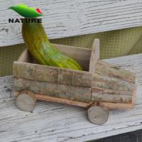 Quality Wooden Car Shaped Flower Plant for Garden for sale