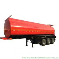 Quality Tri Axle Stainless Steel Tank Semi Trailer For Palm Oil / Crude Fuel / Petrol Oil Delivery for sale