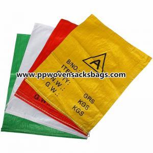 Multi-color PP Woven Shopping Bag Sacks for Packaging Garment / Shoes / Food
