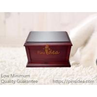 Quality Good Quality Inexpensive Traditional Matte Walnut Wood Pet Urns for Dogs and Cats, Small Order, Quality Guarantee for sale