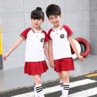 Quality Polyester Kids School Uniforms Sets Turn - Down Collar Color Combination for sale