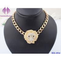Buy cheap MEN'S FASHION 14K FASHION Lion Pendant NECKLACE Hip Hop Chain Alloy Hipster from wholesalers