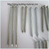 Galvanized concrete nail with fluted shank