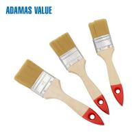 Quality Synthetic Fiber Wooden Handle Paint Brushes Wooden Paint Brush Handles for sale