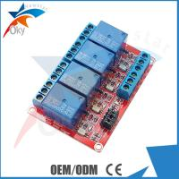 Buy cheap Lightweight Four Channel Relay Module For Arduino , Red Board from wholesalers