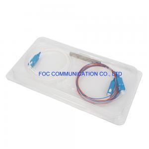 Quality CATV LAN SM LSZH 1x2 PLC Splitter Mini Tube 1650nm For FTTH Networks for sale