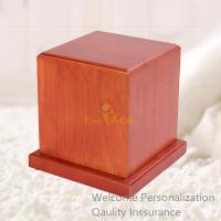 Buy cheap Good Quality Birch Wood Warm Mahogany Normal Traditional Pet Cremation Urn, from wholesalers