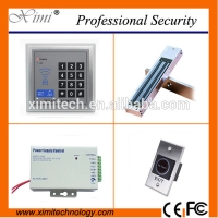 Quality Single wiegand access controller with 180 kg EM lock, infrared exit button, switch power supply zk access control for sale
