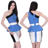 Quality Newest cultivate office ladies white and blue short tight bandage dress for sale