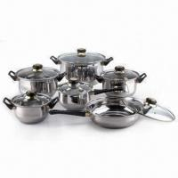 Quality 6-piece Stainless Steel Cookware Set with Glass Lid, Comes in Different Colors for sale