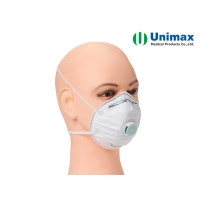 Quality 5 Ply FFP2 Valved UNIMAX Disposable Particulate Respirator for sale