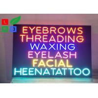 China Store Neon Signs Wholesale Black Board Colorful Neon Word Lights on sale