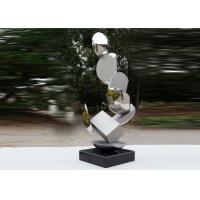Buy Modern Stainless Steel Sculpture Highly Polished For Pool Decoration at wholesale prices