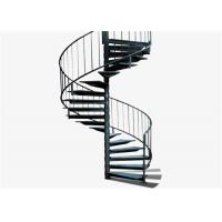 Quality America style high quality solid glass stainless steel spiral staircase for sale