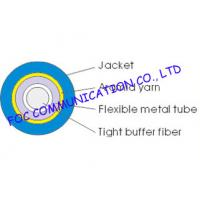 Quality Single Mode Simplex 2.0mm Optical Fiber Cable , Ftth / Lan outdoor Armored Fiber Optic Cable for sale