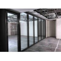 Buy cheap Top Hung Movable Glass Wall With Top&bottom Retractable Seal from wholesalers