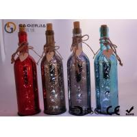 Electroplate Finish Wine Bottle Led Lights With Paint Color / Words
