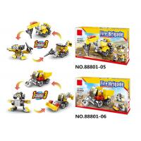 China ABS Plastic Children's Building Block Sets 6 In 1 Convertabler Robot Vehicle on sale