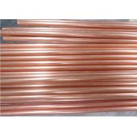 Straight Seamless Copper Pipe C11000 , Custom Rotating Bands Copper Round Tube