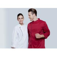 Quality Long Sleeve Western Style Hotel Chef Uniform White Colour With Hand Roll Cuffs for sale