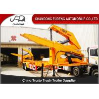 Quality MQH37A 37 Ton Container Side Lifter Trailer Side Loader Truck Trailer  20ft 40ft for sale