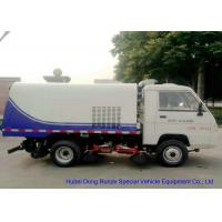 Quality Foton Mini Road Sweeper Truck , Mechanical Street Sweeper With 4 Brushes 2 Cbm Trash for sale