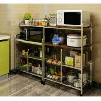 Quality Flexible Wire Rack With Wheels, High Load Stainless Steel Kitchen Rack Shelf for sale