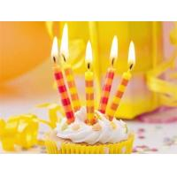 Quality Colorful Streak Printable Birthday Candles Long Burning Time No Dripping Unscented for sale