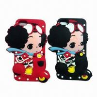 Quality Cellphone Cases for iPhone 5, Made of Silicone/Babies'/Girls' Style Design, Various Colors Available for sale