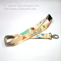 Quality Dye sublimation transfer print lanyard with breakaway buckle for sale