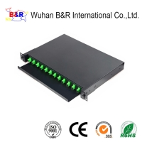 Quality 19inch 12 Port Fiber Optic Patch Panel For FTTH for sale