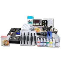 Quality NEW TATTOO KIT 2 GUN MACHINE COMPLETE POWER NEEDLE TIPS CD INK CUP for sale