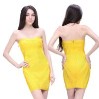 Quality Evening bandage dress attractive yellow short sheath evening dress for sale